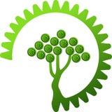 齿轮绿色结构树 免版税库存照片