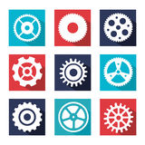齿轮设计 免版税库存照片