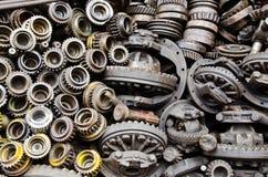 齿轮金属化生锈 库存照片
