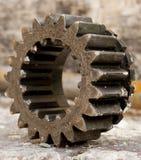 齿轮金属老 免版税库存照片