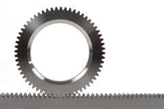 齿轮铁路钝齿轮 库存图片