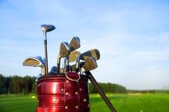 齿轮高尔夫球 免版税库存照片