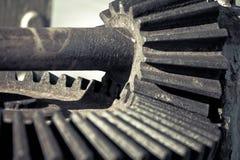 齿轮,基本要点,巨大技术背景 免版税库存图片