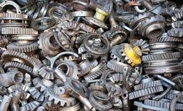 齿轮machanical零件传输 库存图片