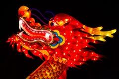 龙中国人灯节丝绸龙 免版税库存照片