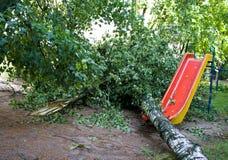 龙卷风在市米斯克,共和国白俄罗斯13 07 2016年 库存图片