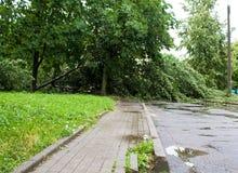 龙卷风在市米斯克,共和国白俄罗斯13 07 2016年 图库摄影