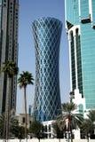龙卷风塔在多哈,卡塔尔 免版税图库摄影