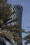 龙卷风塔在多哈 免版税库存照片