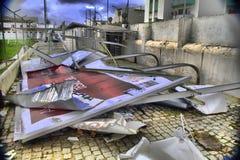 龙卷风的后果 库存照片