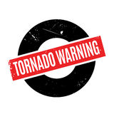 龙卷风警告的不加考虑表赞同的人 免版税库存图片