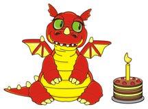 龙和蛋糕 图库摄影
