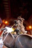 龙喷泉日本sensoji寺庙 免版税图库摄影