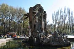 龙喷泉 免版税库存照片