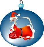 龙圣诞老人 免版税库存照片