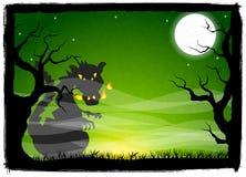 龙在满月夜 免版税图库摄影