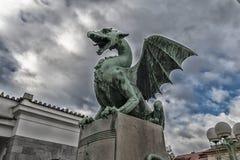 龙在Lubiana 图库摄影