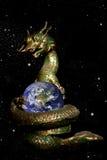 龙地球滚的空间 免版税图库摄影