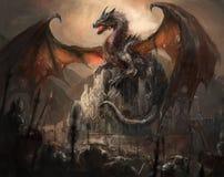 龙城堡 免版税图库摄影