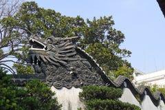 龙墙壁在Yu庭院 免版税库存照片