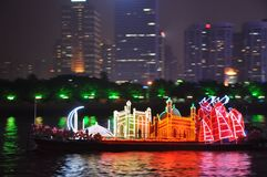 龙小船在广州中国 库存图片