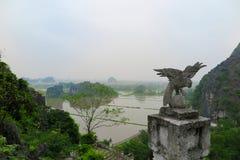 从龙山, Ninh堆省,越南的顶端一个看法 库存图片