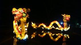 龙手工制造中国灯笼 免版税库存照片