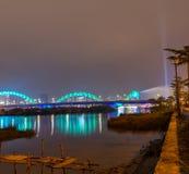 龙桥梁Cau荣,岘港市越南 库存照片