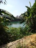 龙江河在夏天 库存图片