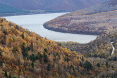 黑龙江河的早晨 库存图片
