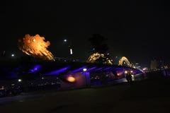 龙河桥梁在岘港市,越南,亚洲 库存照片
