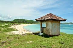 龙目岛海岛的小屋 库存照片