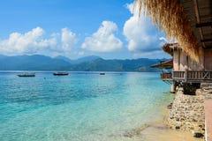 龙目岛海岛,印度尼西亚海景  库存照片