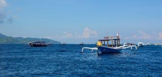 龙目岛海岛,印度尼西亚海景  图库摄影
