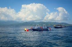 龙目岛海岛,印度尼西亚海景  免版税图库摄影
