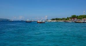 龙目岛海岛,印度尼西亚海景  库存图片
