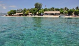 龙目岛美丽的海滩和海 库存照片