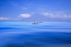 从龙目岛,印度尼西亚的渔船 库存照片