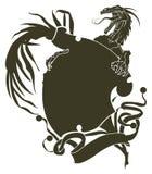 龙纹身花刺模板 免版税库存图片