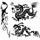 龙纹身花刺 免版税库存照片
