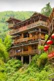 龙脊露台的房子 免版税图库摄影
