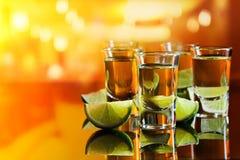 龙舌兰酒和石灰 免版税库存图片