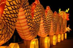 龙节日灯笼新加坡 图库摄影