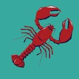 龙虾商标模板 免版税库存照片