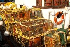 龙虾小船 库存照片