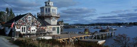 龙虾村庄在新英格兰 库存图片