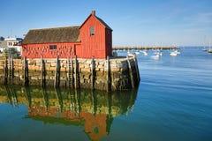 龙虾棚子在Rockport, MA 库存图片