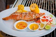 龙虾正餐 免版税图库摄影