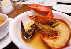 龙虾汤 图库摄影