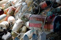 龙虾浮体堆-3 库存照片